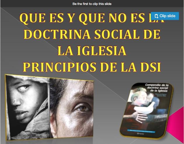 que es la doctrina social de la Iglesia