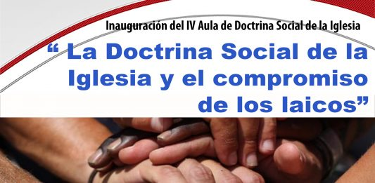 cartel de la convocatoria de la inauguración aula doctrina social de la iglesia