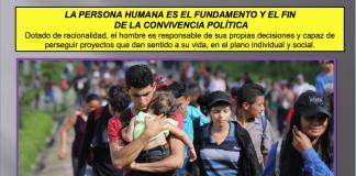 La persona humana es el fundamento y el fin de la convivencia política