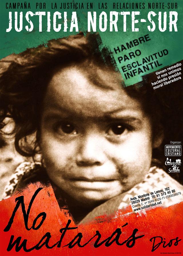 Concentración contra las causas del hambre, el paro y la esclavitud infantil