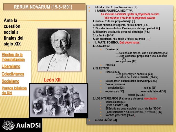 Recorrido histórico por la Doctrina Social de la Iglesia